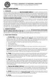format of a management report numl management science dept report format guidelines