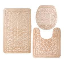 3 piece memory foam bathroom rug set for your comfort