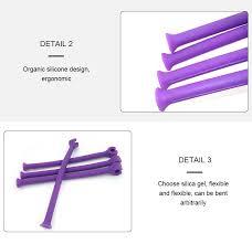 honana cx 3203 saver flexible dishwasher set of 4pcs silicone purple glass bracket creative wine