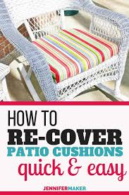 save recover your patio cushions fast easy with this sew no sew technique
