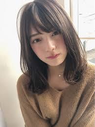 ミディアム Hair2019 ヘアスタイルモテ髪前髪 ヘアアレンジ