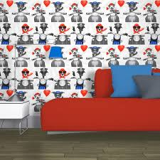 Puppy Wallpaper For Bedroom Girls Chic Wallpaper Kids Bedroom Feature Wall Decor Various