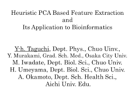 heuristic pca based feature extraction and its application to bioin