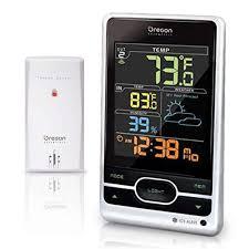 oregon scientific bar206s bar206sa wireless weather forecast temperature station color lcd screen