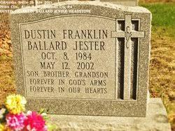 """Dustin Franklin Ballard """"Dusty"""" Jester (1984-2002) - Find A Grave Memorial"""