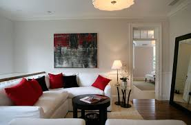 Gallery of Elegant Pictures Red Black And White Living Room Ideas