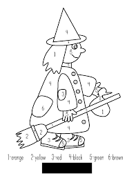 Halloween Coloring Pages Color By Number: Holidays printable ...