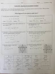 extra practice with equations of circles key 10 8