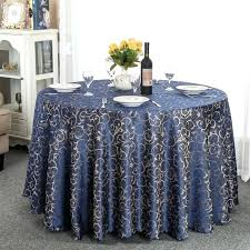 jacquard round tablecloth navy blue coffee burdy for wedding party decorations 52 inch x 70