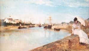 paintings by berthe morisot the harbor at lorient 1869
