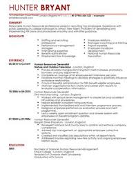 Hr Resume Templates Unique Human Resources CV Templates CV Samples Examples