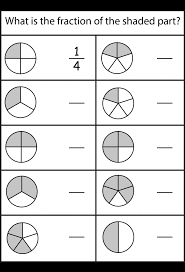 Math Worksheets Fraction For Kinder Fractions Printable Grade ...