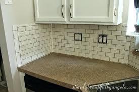 subway tile backsplash edge how to tile kitchen corner beveled edge subway backsplash tile white gloss