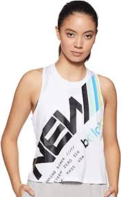 New Balance Women's Printed Velocity Crop Tank ... - Amazon.com