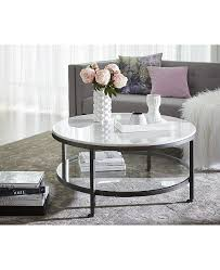 The details and the legs on these tables are magnificent and truly beautiful. Furniture Stratus Round Coffee Table Created For Macy S Reviews Furniture Macy S