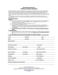 Event Planner Contract Interesting Wedding Event Contract Template Planning Templates Free Sample In R
