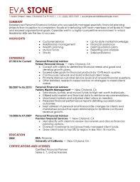 Best Resume Format For Finance Jobs Financial Adviser Job Descriptionplate Personal Advisor Finance 2