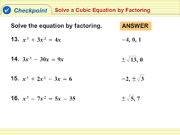 16 solve the equation by factoring