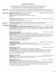 Physical Therapy Resume Sample Inspirational Occupational Therapy