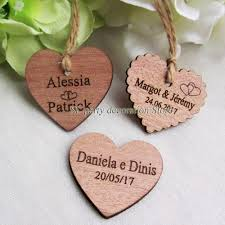 vent party party favors 30 50 personalized engraved wedding name and date wooden heart gift favor tag bridal shower tag invitatio wedding favor frames