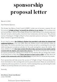Proposal Corporate Sponsorship Letter Sample Doc Printable Template ...