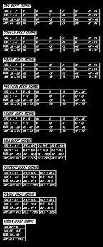 Ho Animal Bindings Size Chart Exact Ronix Bindings Size Chart 2019