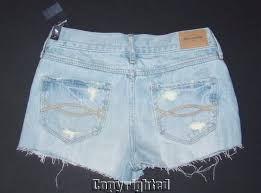Details About Nwt Girl Sz 14 Shorts Abercrombie Kids Fitch High Rise Destroyed Denim Jean