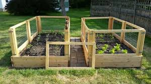 say goodbye to backaches with this removable raised garden bed fence
