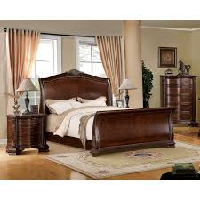 king size sleigh bedroom set cherry. furniture of america eliandre baroque 2-piece brown cherry sleigh bed with nightstand set (cal. king), size california king bedroom s
