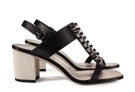 pedro garcia block heel stud embellished sandal black leather xinyi v17 side