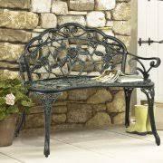 Bentley Garden White Wrought Iron Bench  BuyDirect4UOutdoor Wrought Iron Bench