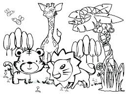 Winter Animal Coloring Pages Zoo Animals Sheet Online Color To Print