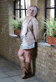 Mature ladies in panties and boots