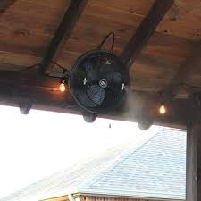 Wall Mount Outdoor Fans Mist Works Inch Outdoor Wall Mount Fan With