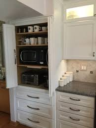 Appliance Garages Kitchen Cabinets Appliance Cabinet Great To Hide Microwave Toaster Oven Coffee