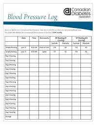 blood pressure and blood sugar log sheet educational resources shop diabetes canada