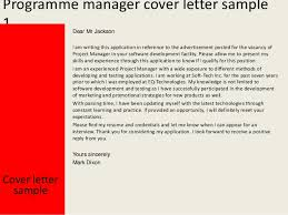program manager cover letter samples programme manager cover letter