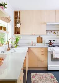 light wood furniture exclusive. The Combination Of Light Wood With Pastel Hues And Copper Details Make This Kitchen By Claire Zinnecker Naturally Whimsical Furniture Exclusive O