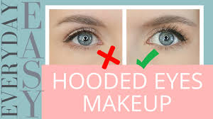 easy everyday eye makeup for hooded eyes