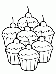 Small Picture Coloring Pages Of Cupcakes And Cookies Coloring Home