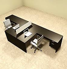 office desk for two people.  People Two Person L Shaped Divider Office Workstation Desk Set OTSULFP40 In For People K