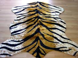 faux zebra hide rug tiger rug faux fur animal skin pelt hide rug new large faux animal skin rugs