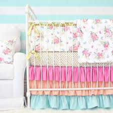 caden lane olivia s bright boho fl 2 piece crib bedding set