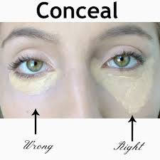 how to apply makeup conceal bags under eyes