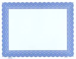 Blue Certificate Border Template Certificates Office Download ...