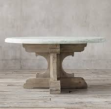 c french bastide oak marble round dining table with regard to top decor 7