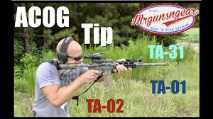 How To Set Up 4x Trijicon Acog For Better Eye Relief Hd