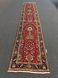 on beautiful red hand knotted persian rug runner fl carpet 2 7