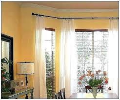 bay window curtain rod. White Curtain Rods Walmart Bay Window Rod Double For Windows W