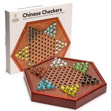 Wooden Game With Marbles YMI Wooden Chinese Checkers Set with Glass Marbles Board Game w 36